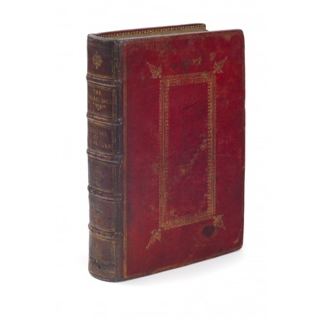 Contemporary London binding of red turkey leather, perhaps commissioned by Peter Lely