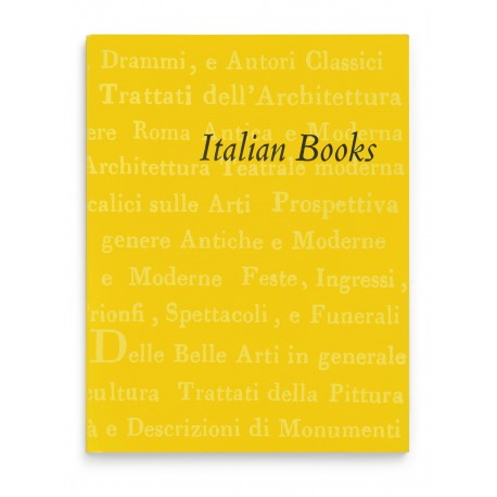 [Stock lists, numbered series: 16] Italian books: architecture, theatre architecture, emblems, festival books, fortification & the art of war, horsemanship, painting, sculpture, perspective, mathematical sciences, topography & local history