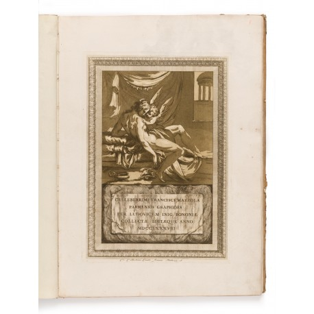 Title-print: Venus and Cupid (430 × 305 mm), printed in sepia