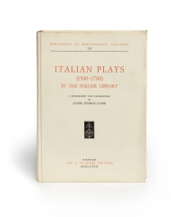 Italian plays 1500-1700 in the Folger Library : a...