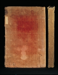 Velvet binding of circa 1574 with gauffered page edges...