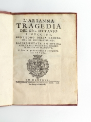 The libretto of Monteverdi's second opera, in its rare...