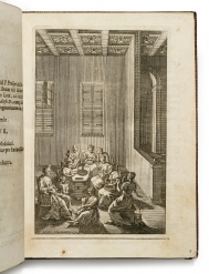 Engraving by Giacomo Maria Giovannini. Height of binding...