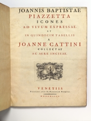 First issue of Cattini's Icones, one of four copies...