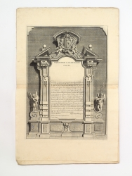 Dedication to Cardinal Vincenzo Malvezzi, subscribed by...