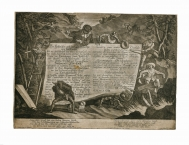 Mezzotint title to a print series recording a Carnival...
