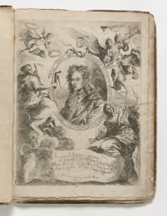 Title-plate, featuring a medallion portrait of Ferdinando...