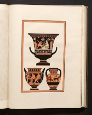 Plate II: (top) Red-figured calix-krater depicting Cadmus...