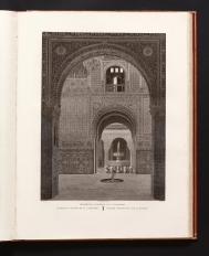 Interior view of the Alhambra, drawn by Jean Lubin...