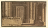 "Drawing of the interior of a sanctuary ""in honour of the..."