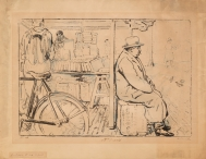 Lithograph by William Nicholson of the Cambridge...