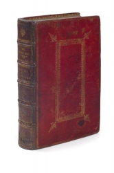Contemporary London binding of red turkey leather,...